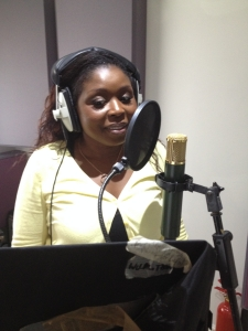 Fay Kendal in the booth at Greystoke Studio
