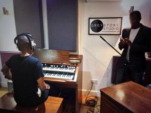 Bizzi Dixon at Greystoke Studio: Paloma Faith pianist, Peter Dayley on our hammond